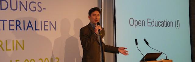 Philipp Schmdit auf der OER-Konferenz, September 2013