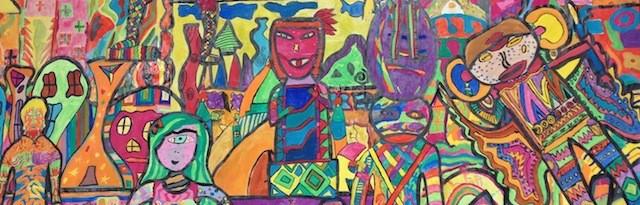 Kooperatives Kunstwerk von Schülern der Heinrich-von-Stephan-Schule