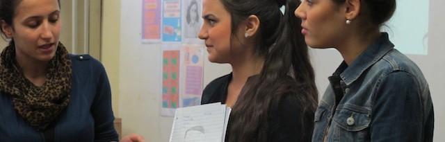 Schülerinnen von der Anne Frank Gesamtschule, Dortmund 2012