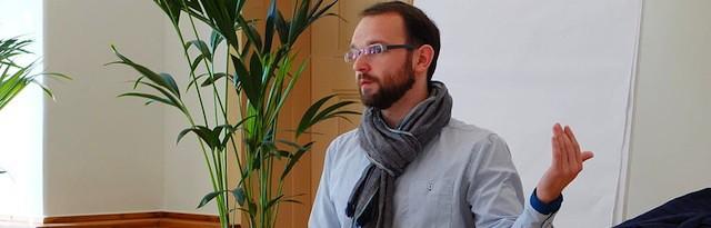Kamil Sliwowski auf der Wikimedia OER-Konferenz 2013